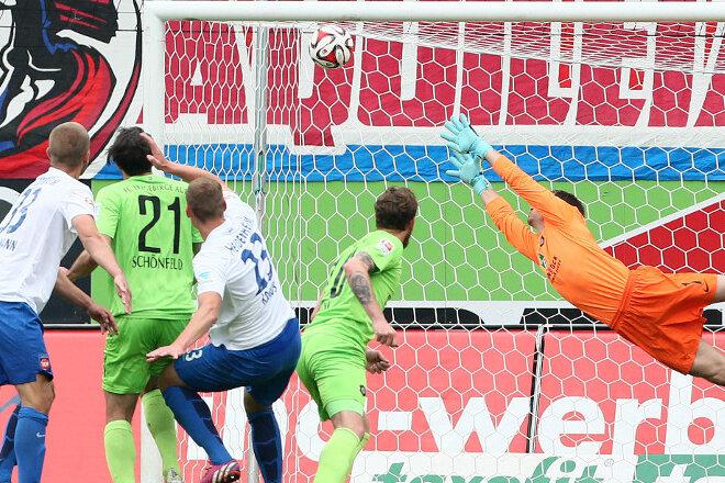 Heidenheims Treffer zum 1:0.