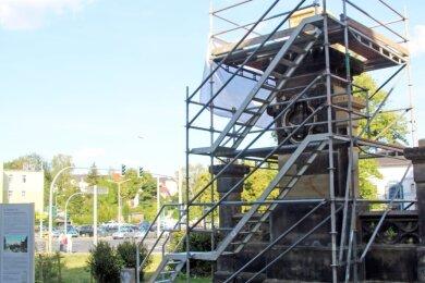 Herzensprojekt des Fremdenverkehrsvereins: Die Wiedererrichtung des Horndenkmals nimmt stetig mehr Konturen an.