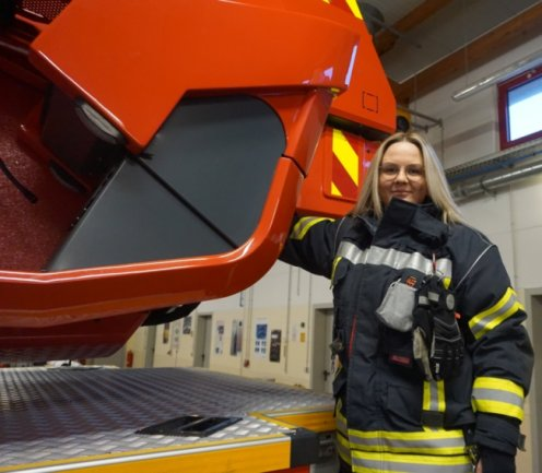 Janet Müller ist seit 2019 bei der Freiwilligen Feuerwehr in Mittweida aktiv.