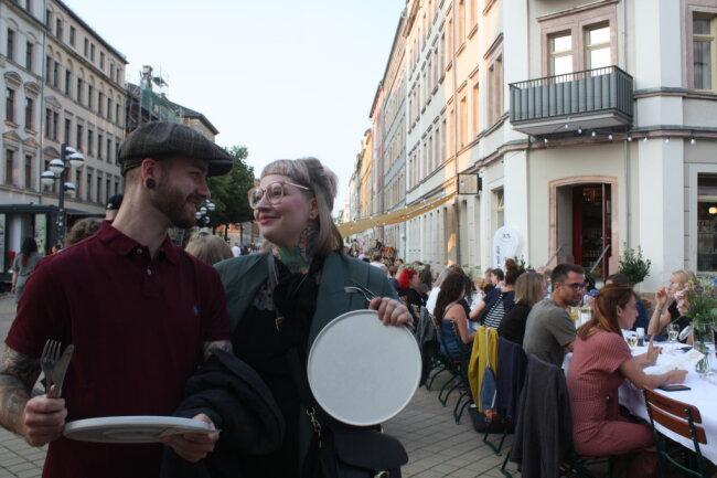 Nico Weißgerber und Anna-Katharina Götz genossen das Brühl-Dinner.