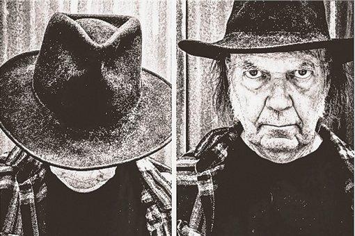 """Neil Young im Jahr 2016 bei der Kampagne zum Album """"Earth"""", auf dem er zusammen mit der Band Promise Of Real von Willie Nelsons Sohn Lukas gegen die Lobby der weltweiten Agrarkonzerne ansang."""
