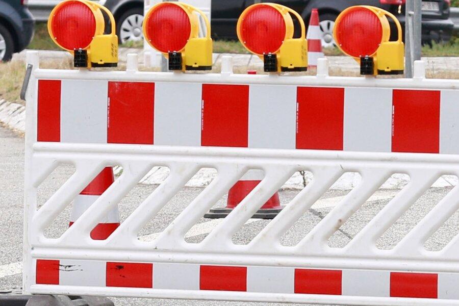 B173 ab Dienstag in Flöha halbseitig gesperrt