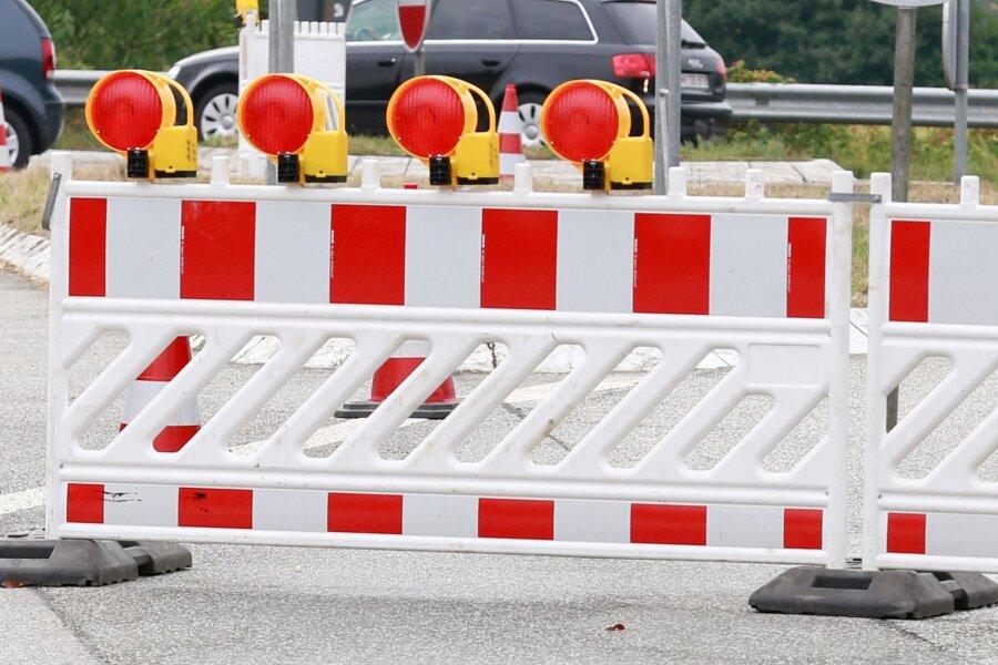 Straße kurzfristig gesperrt