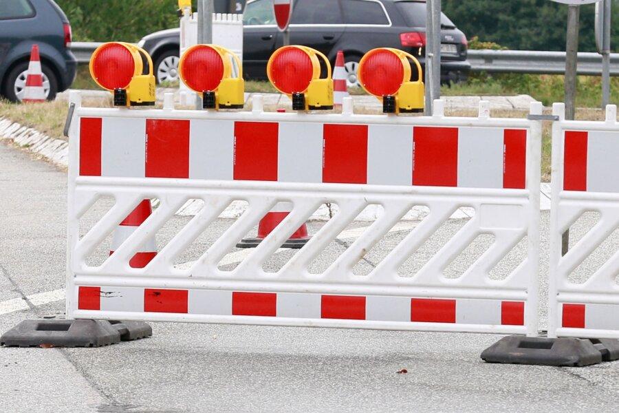 Stück der Reichenbacher Straße in Zwickau elf Wochen lang gesperrt