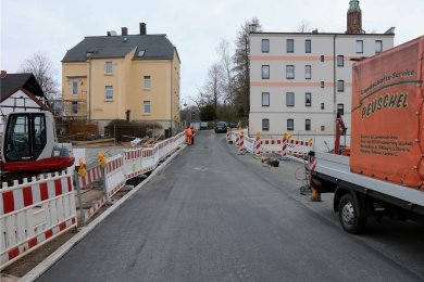 Damit die Bauleute nun zur Gabelsbergerstraße ziehen können, musste zuvor die Brücke Kirchstraße (Bild) fertiggestellt werden.