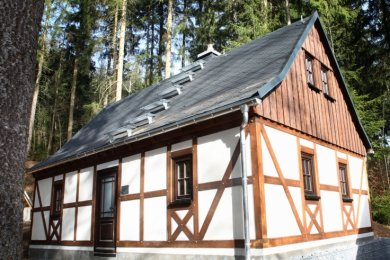 """Das Bergmannshaus am Schaubergwerk Herkules-Frisch-Glück in Waschleithe ergänzt nun die """"Bergmännische Erlebniswelt""""."""