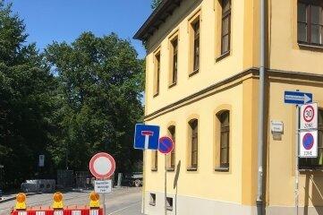 Die B 101 ist in Freiberg zwischen Waisenhausstraße und Nonnengasse gesperrt.