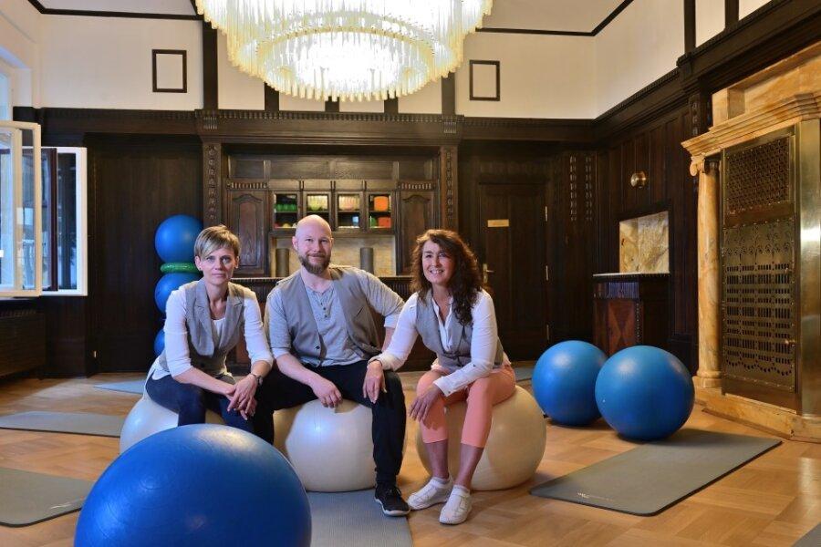 Die Villa Energy auf dem Sonnenberg ist kein Fitnessstudio, wie man es in Chemnitz kennt. Hier verwirklichen Katja Zickmann, Mathias Schwichtenberg und Peggy Maidorn (von links) ein ganzheitliches Konzept.