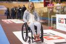 Die querschnittsgelähmte Radsport-Olympiasiegerin Kristina Vogel kommt zum Bahnrad-Weltcup, um die Ehrung «Radsportler des Jahres» zu erhalten.