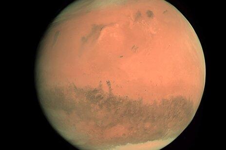 Der Rote Planet, aufgenommen von der Europäischen Raumfahrtagentur im Februar 2007.