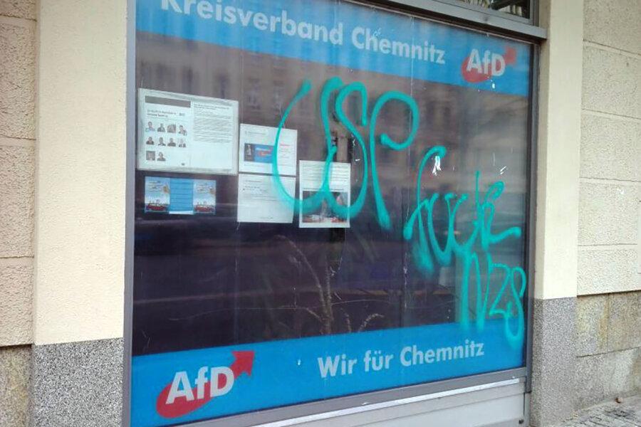 Chemnitz: AfD-Büro beschmiert