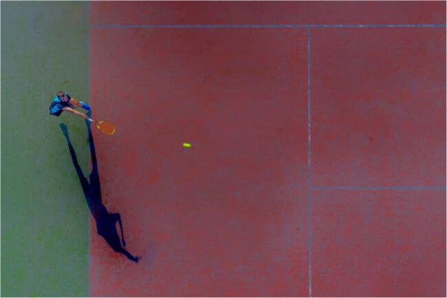 Das Herz von Stefan Glaß aus Olbernhau hängt auch am Sport. Sein Bild überzeugt mit ungewöhnlicher Perspektive, Geometrie und Kontrasten.