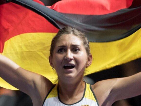 Holte mit deutscher Rekordzeit WM-Bronze über 3000 Meter Hindernis: Gesa Felicitas Krause. Foto (Archiv):Sven Hoppe
