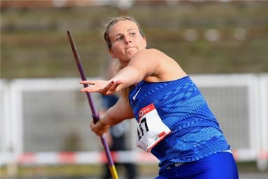 Speerwurf-Europameisterin Christin Hussong hält den Meetingrekord beim Werfertag in Thum.