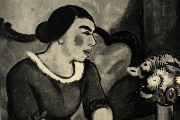 """Max Pechsteins """"Frau auf dem Sofa"""" ist eines von zwei Pechstein-Gemälden, die Hildebrand Gurlitt als Museumsdirektor nach Zwickau holte. Im Jahr 1937 wurde das Bild beschlagnahmt und gilt seither als verschollen - nicht auszuschließen, dass es unter den 1500 Werken ist, die 2011 in München entdeckt wurden."""