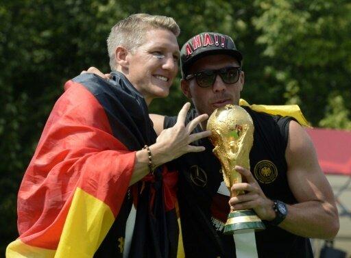 Gute Freunde: Bastian Schweinsteiger und Lukas Podolski