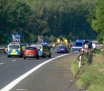 Auf der A 4 ereignete sich am 20. August bei Siebenlehn ein tödlicher Verkehrsunfall.