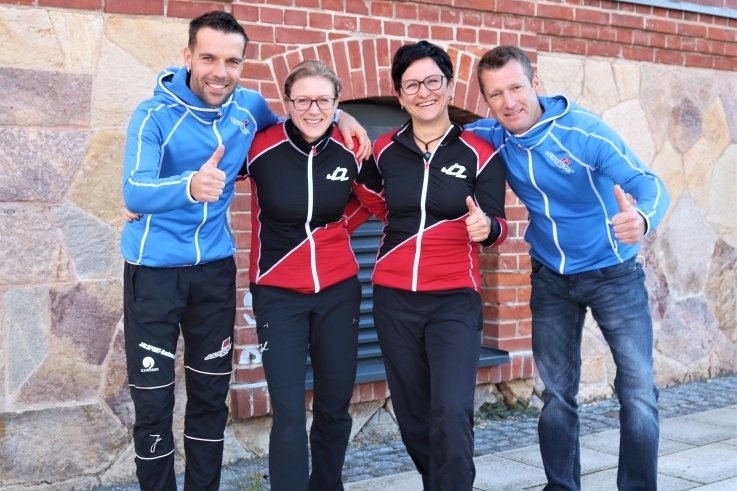 Auf nach Tirol! Thomas Schröder, Dana Hinz, Christina Hamann und Rico Hamann. (v. l.).