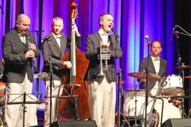 Die Blue Wonder Jazzband soll am 23. Oktober im Theater in Crimmitschau für Stimmung sorgen.