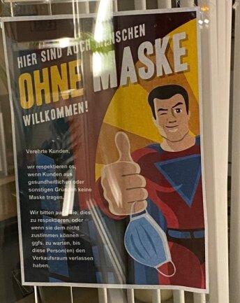 Dieses Plakat war im Herbst an einem Auerbacher Geschäft zu sehen.