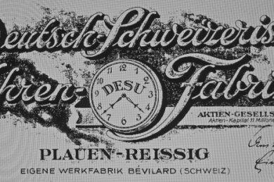 Briefkopf der Uhrenfabrik.