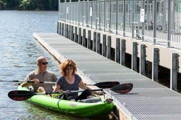 Der Sportbootanleger im Hafen Kriebstein kann nun genutzt werden.