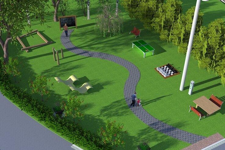 Die Pläne zum Mehrgenerationenplatz in Oberscheibe wurden von Sven Gehler verbildlicht.