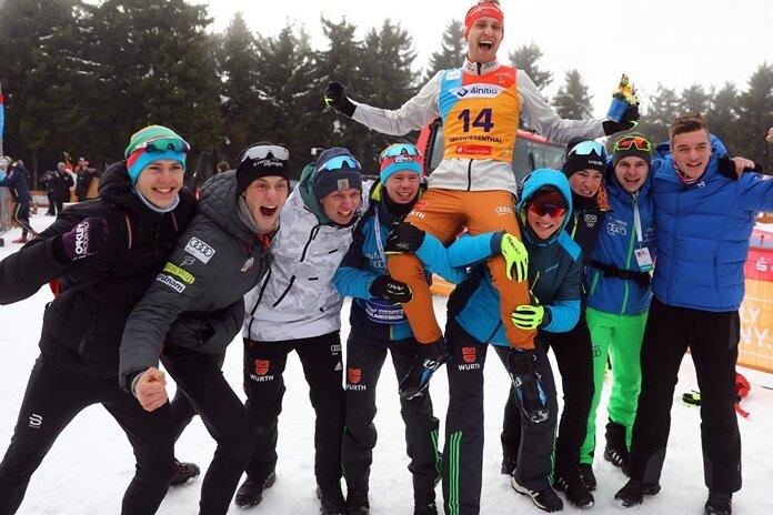 Langläufer Maxim Cervinka vom BertsdorferSV wurde Dritterim Sprint zum Auftakt der Junioren-WM.