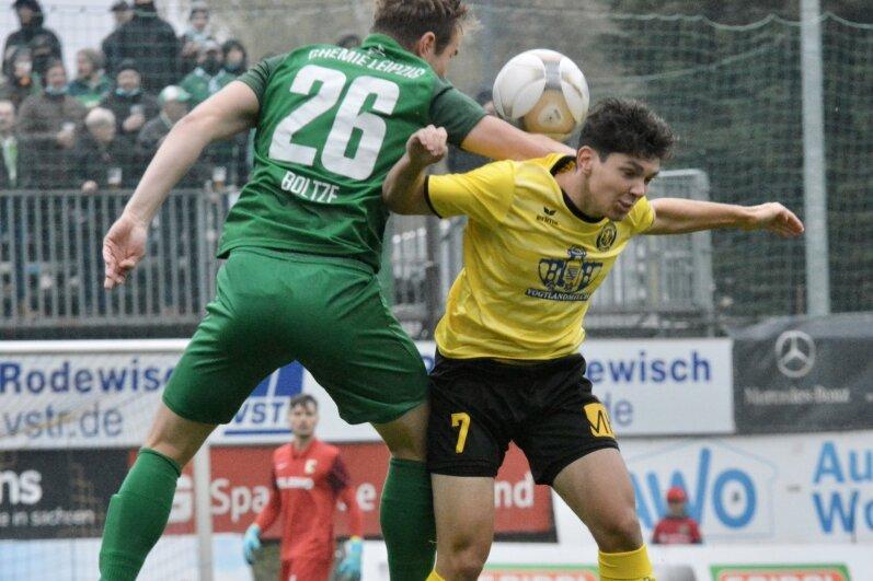 VfB Auerbach verliert gegen BSG Chemie Leipzig mit 0:2