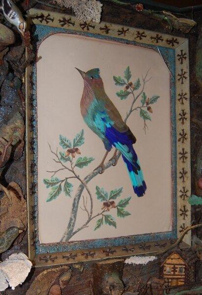 """<p class=""""artikelinhalt"""">""""Gefiederte Blätter"""" ist eine Sonderausstellung im Freilichtmuseum Eubabrunn. Sie zeigt Federbilder des 19. Jahrhunderts. </p>"""