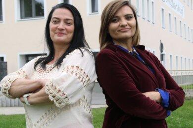 Nancy Ehnert (l.) und Becky Hellwig wollen Frauen und auch Männer aus Leubsdorf und Umgebung zusammenbringen.
