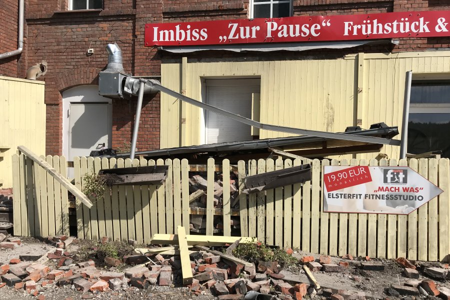 Das Gelände der ehemaligen Wetzstein-Brauerei ist abgesperrt.