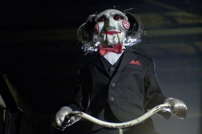 """Der maskierte Killer Jigsaw aus der """"Saw""""-Reihe ist trotz seiner Grausamkeiten längst eine Ikone der Popkultur."""