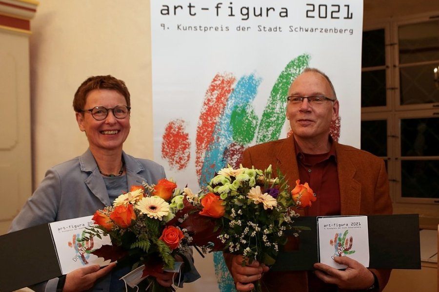 Bettina Steinborn und Kai Wolf konnten ihren Preis persönlich entgegen nehmen.