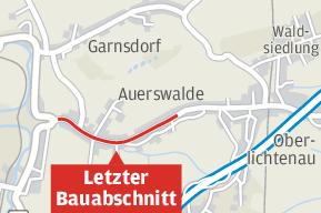 Baurecht für Ausbau der Auerswalder Hauptstraße