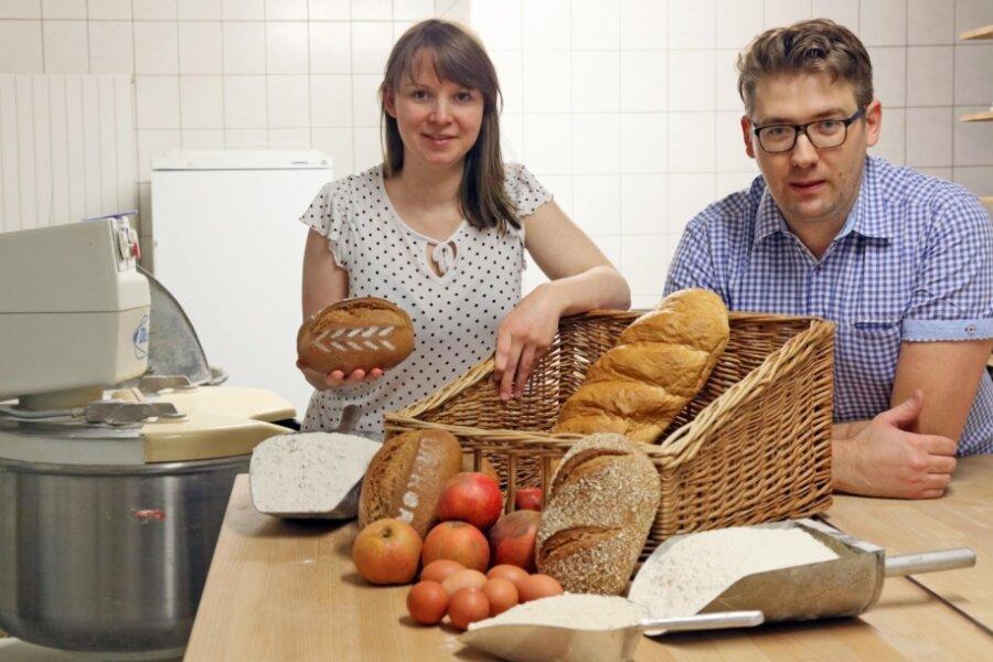 Carolin und Robert Eckhardt setzen in ihrer Bäckerei auf regionale Zutaten.