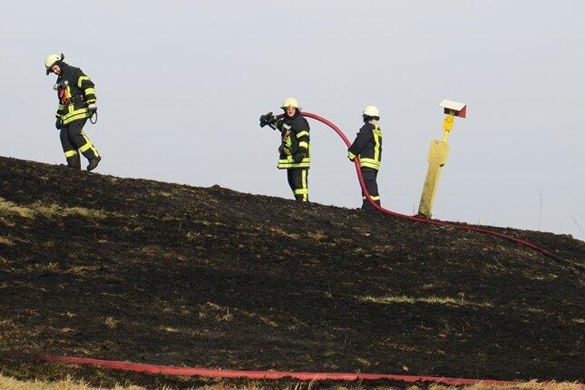 Lößnitz: Ödland in Flammen