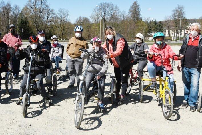 Es geht wieder los: Mit großem Aufwand hat der Radkulturzentrum-Verein das Training organisiert.