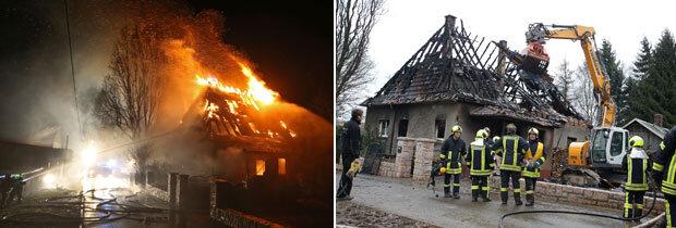 Das Feuer von Gersdorf: Staatsanwalt ermittelt vor Ort