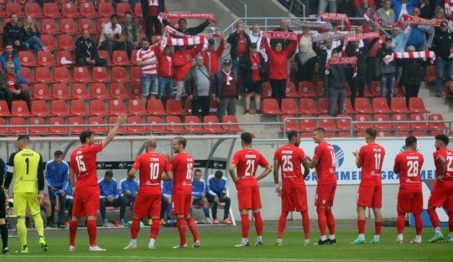 Beim Testspiel des FSV gegen Usti nad Labem (1:1) waren am Samstag erstmals in diesem Jahr Fans in der GGZ Arena zugelassen.