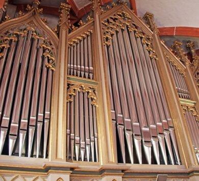 Doe Jeheber-Orgel in der Kirche zu Sayda.