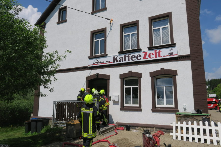 Johanngeorgenstadt: Hausanschluss gerät in Brand