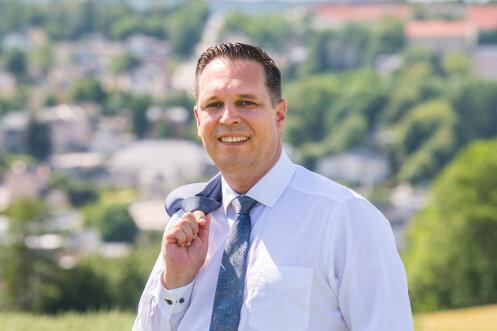 Rico Anton kandidiert zur nächsten Landratswahl des Erzgebirgskreises.