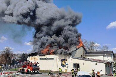 Die Halle der Markneukirchener Bundesliga-Ringer ist abgebrannt.