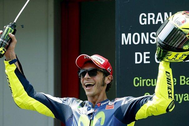 Valentino Rossi geht von der Pole Position in das Rennen am Samstag (13.30 Uhr/Eurosport) im niederländischen Assen.