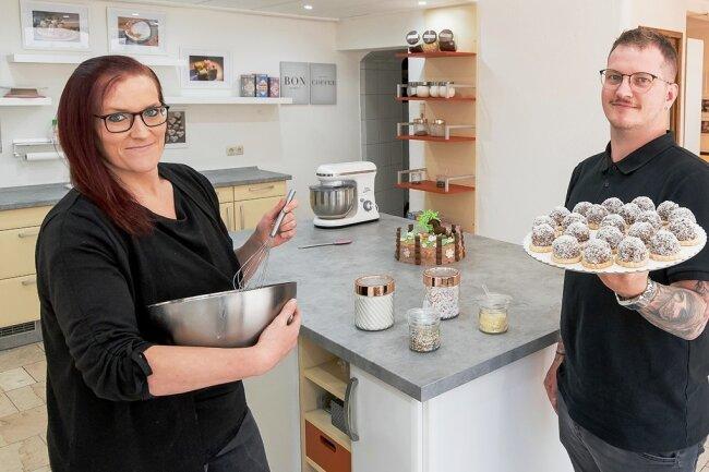 Im sogenannten Süßen Laden des Kathrinchen-Zimtstern-Vereins, dessen Vorsitzender Florian Drechsel ist, können bald Kinder unter Anleitung von Manja Glöckner backen.