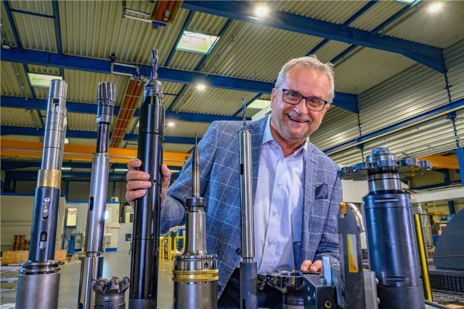 Früher VEB-Betriebsdirektor, heute Vorstand der Gemag Gelenauer Maschinenfabrik AG: Hans-Peter Weise.