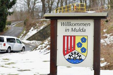 Wer wird der neue Bürgermeister der Erzgebirgsgemeinde Mulda? Hier das Muldaer Begrüßungsschild aus Richtung Lichtenberg.