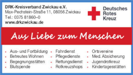 Anzeige: DRK Kreisverband Zwickau e.V.