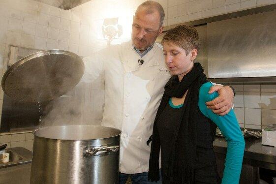 TV-Koch Frank Rosin war in Oederan bei Nicole Bibrach.